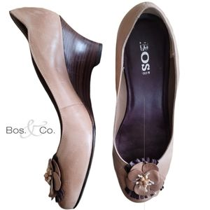BOS & Co. Leather Wedges